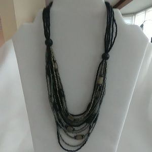 """5/$35 Cookie Lee Seed Bead 18"""" Necklace"""